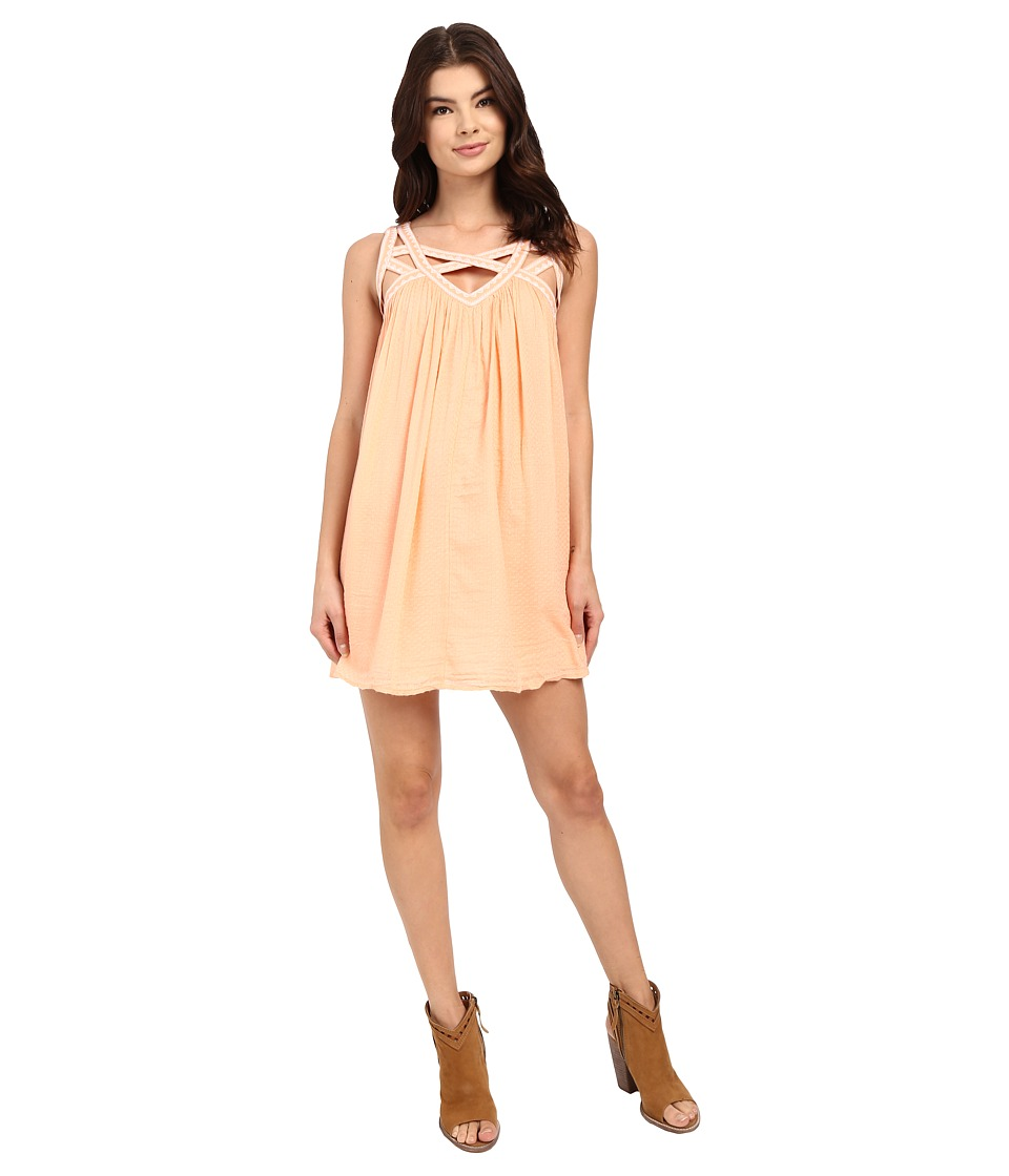 Rip Curl - Neverland Dress (Peach) Women's Dress
