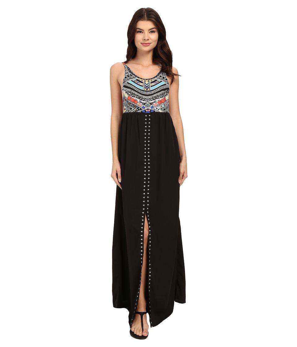 Rip Curl - Tribal Myth Maxi Dress (Black) Women's Dress