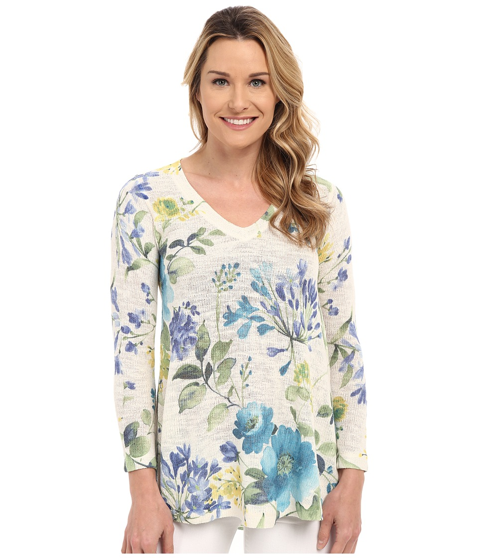 Nally & Millie - Floral V-Neck Tunic (Multi) Women's Sweater