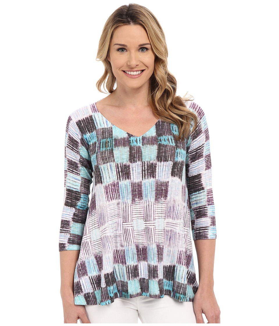 Nally & Millie - Patchwork Ribbed Tunic (Purple) Women's Long Sleeve Pullover