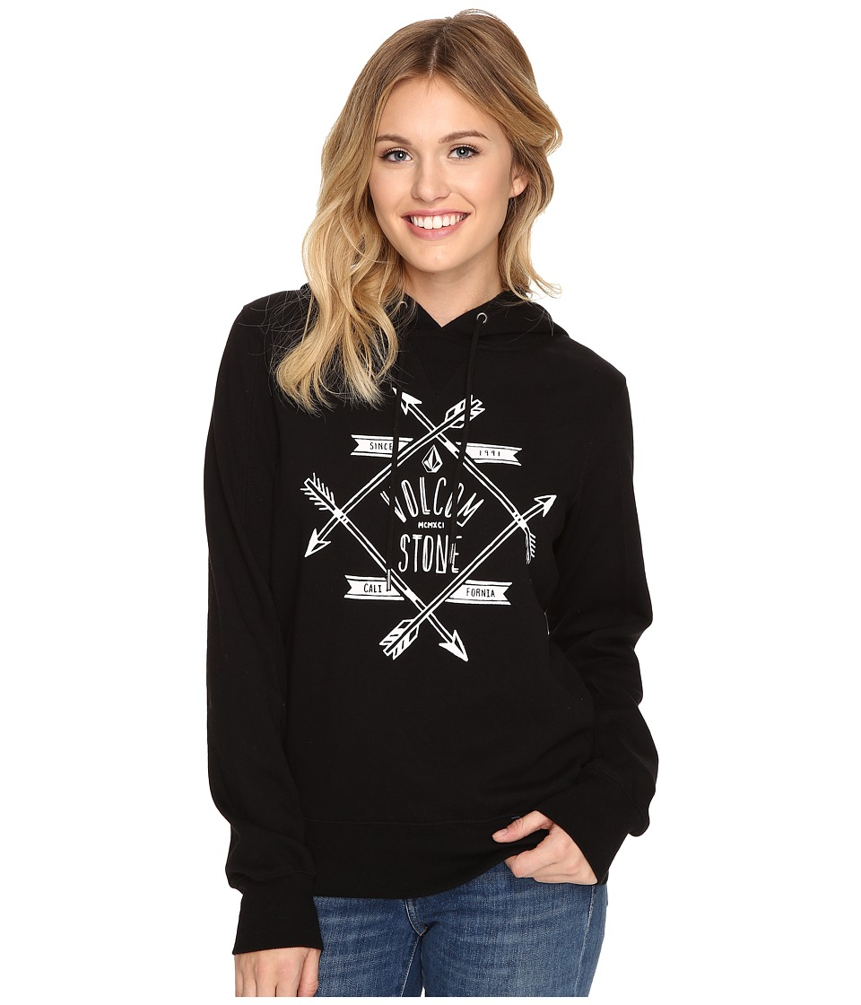Volcom - Droppin In Hoodie (Black) Women's Sweatshirt