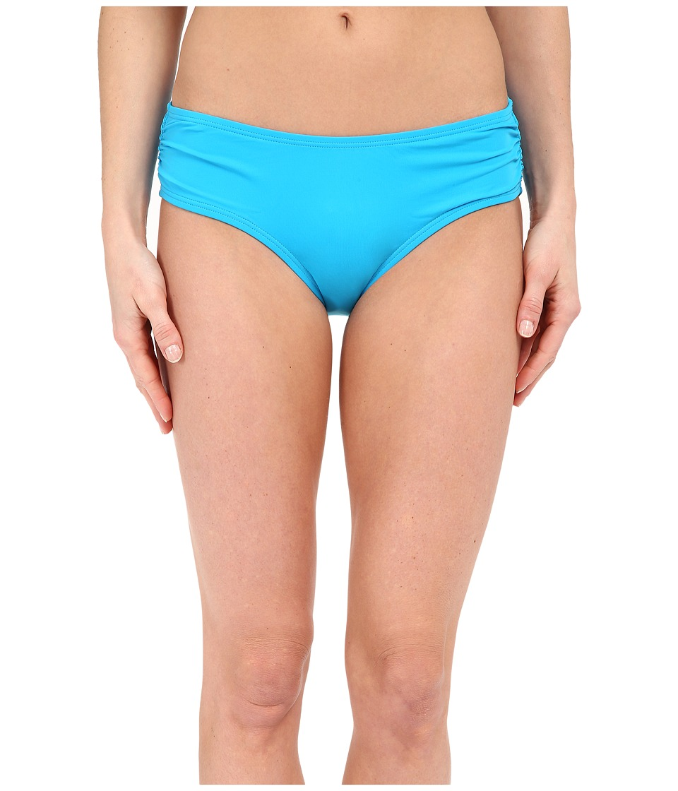 MICHAEL Michael Kors - Logo Solids Side Shirred Bottoms (Santorini) Women's Swimwear