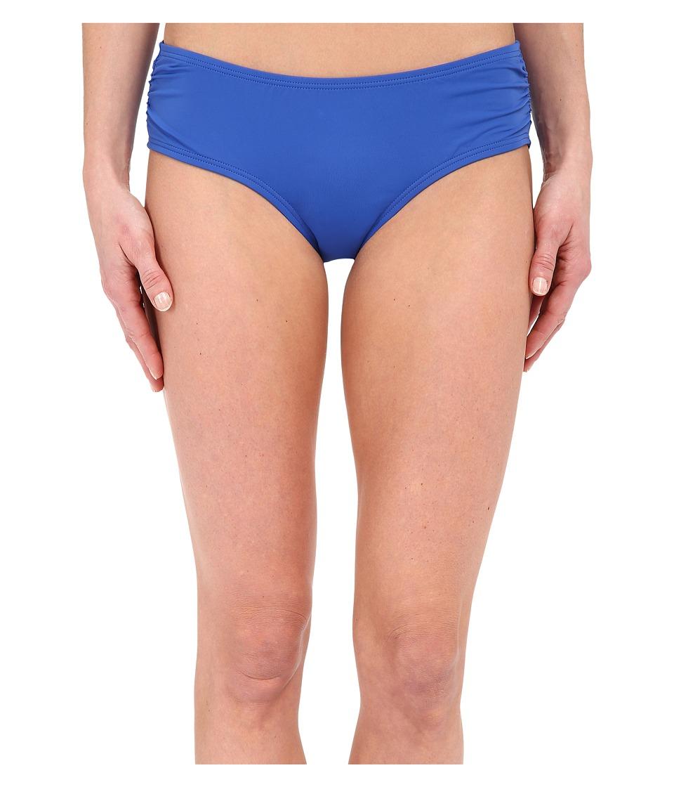 MICHAEL Michael Kors - Logo Solids Side Shirred Bottoms (Amalfi) Women's Swimwear
