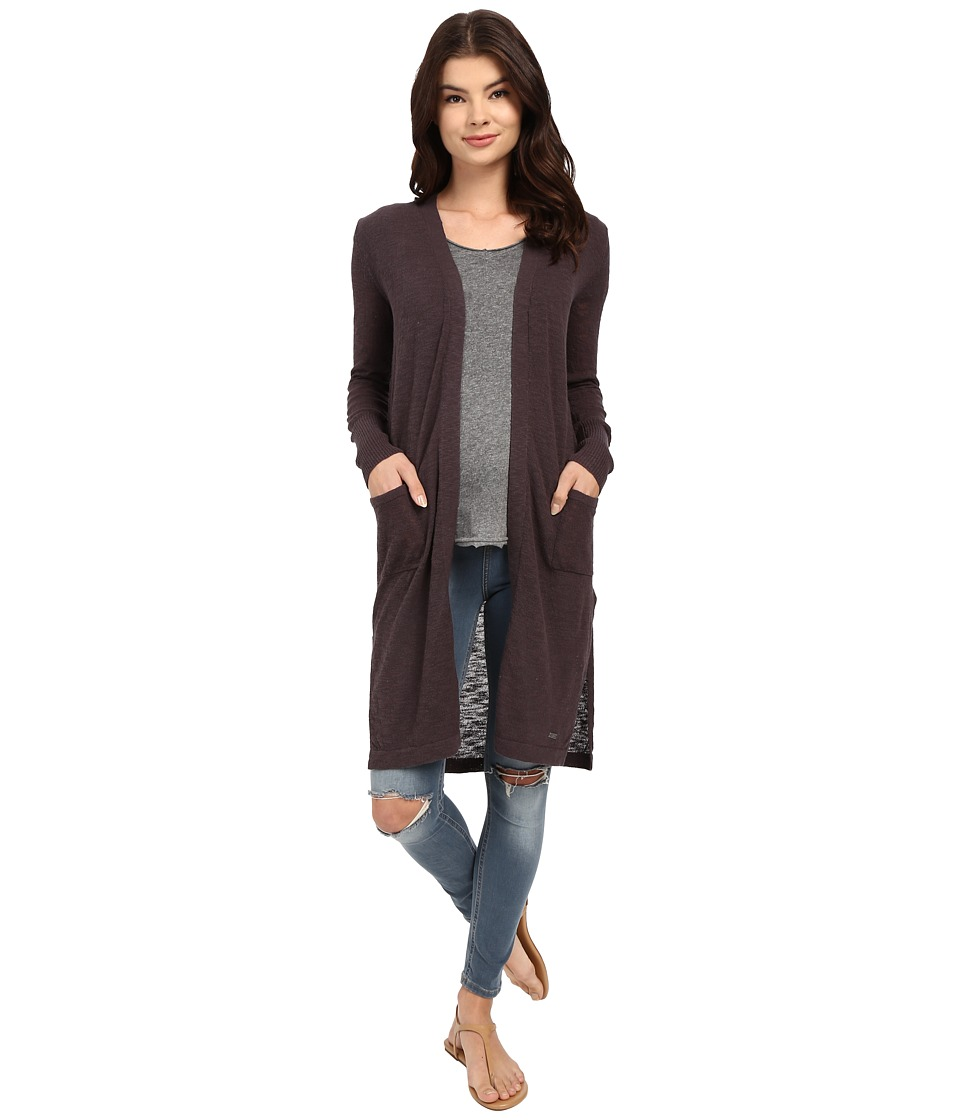 Roxy - Love and Luck Cardigan (Dark Midnight) Women
