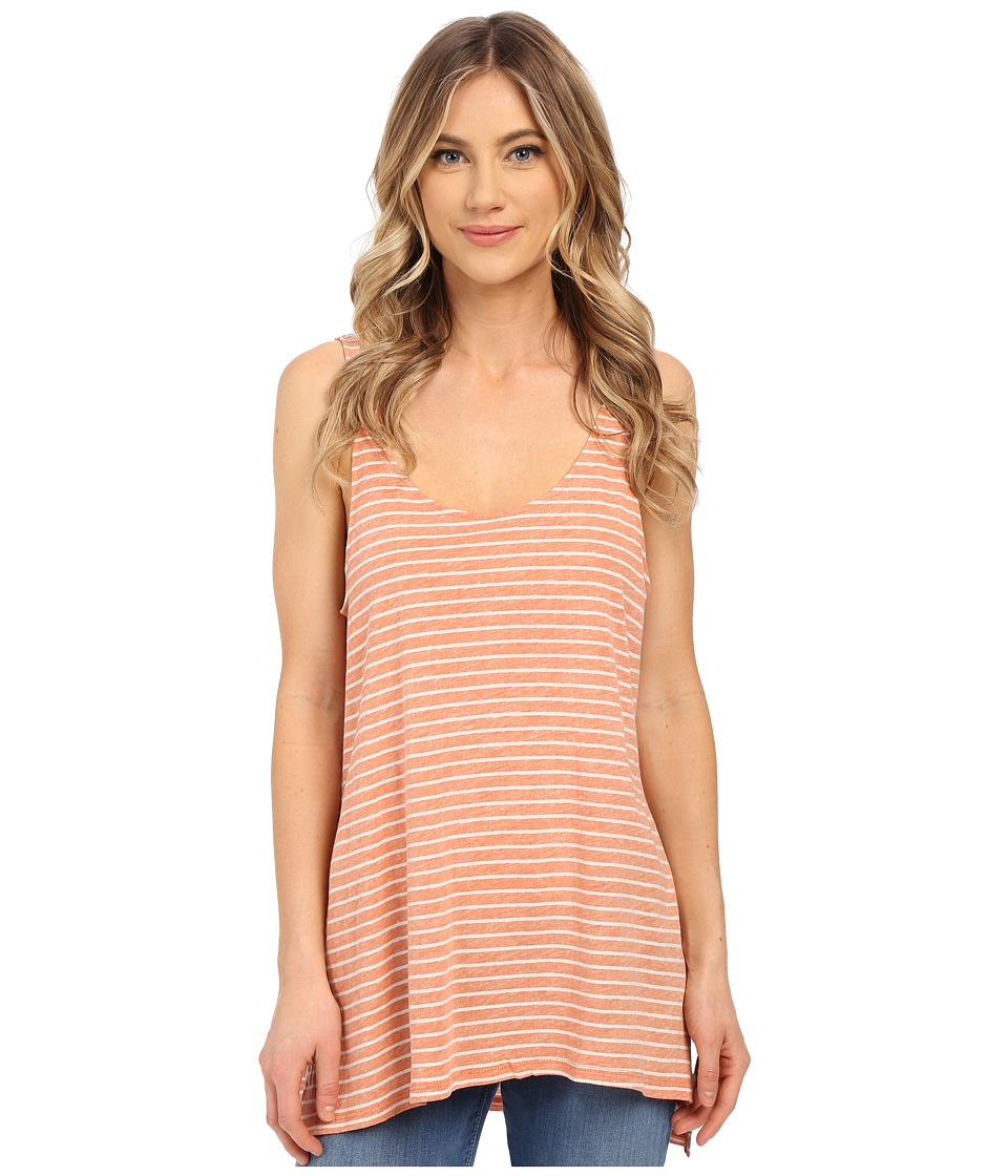 Volcom - Stripe Tees Tank Top (Burnt Sienna) Women's Sleeveless