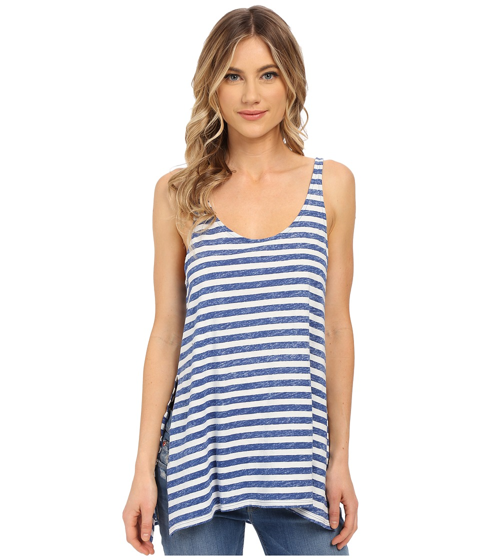 Volcom - Stripe Tees Tank Top (Navy) Women's Sleeveless