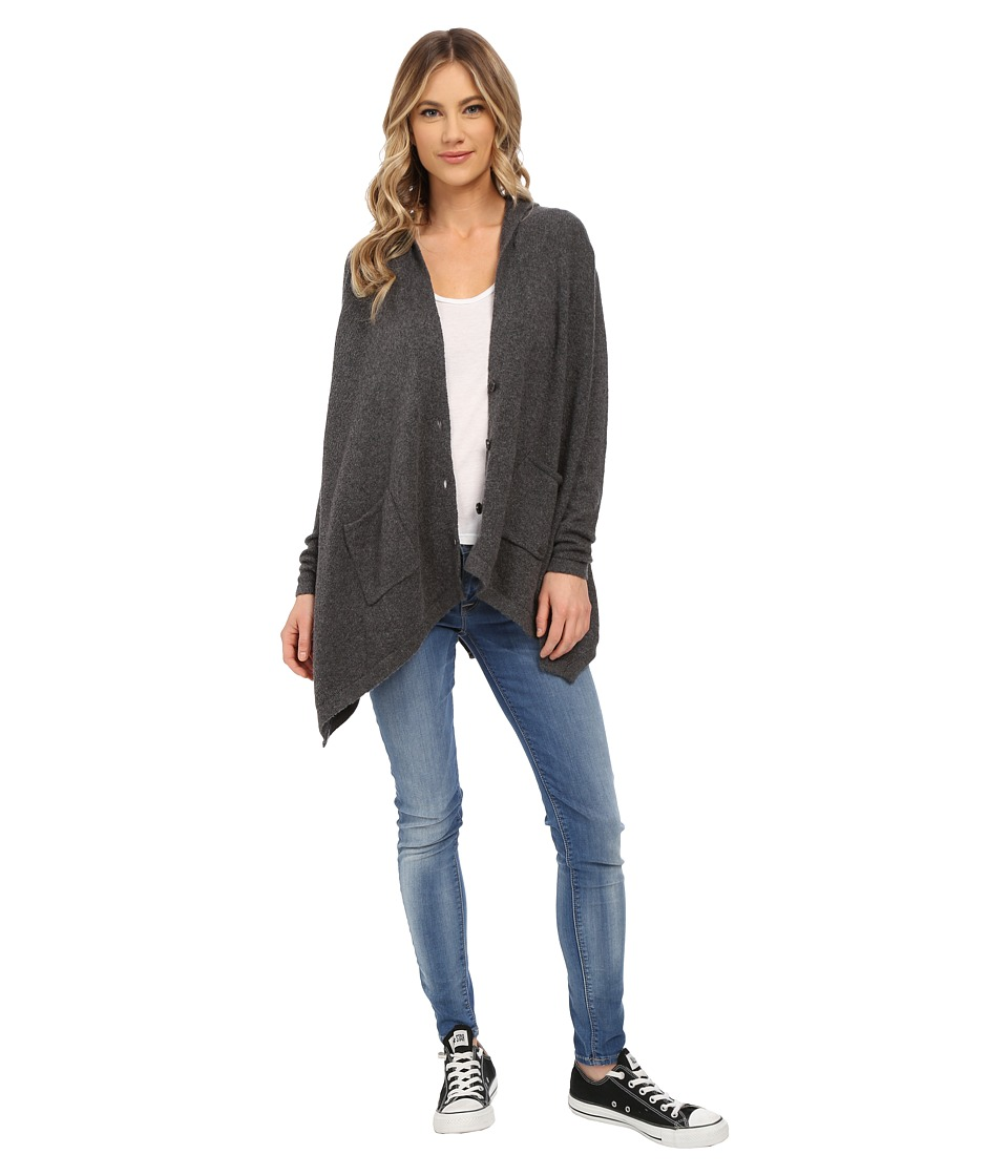Roxy - Changing Channels Poncho (Charcoal Heather) Women's Sweater