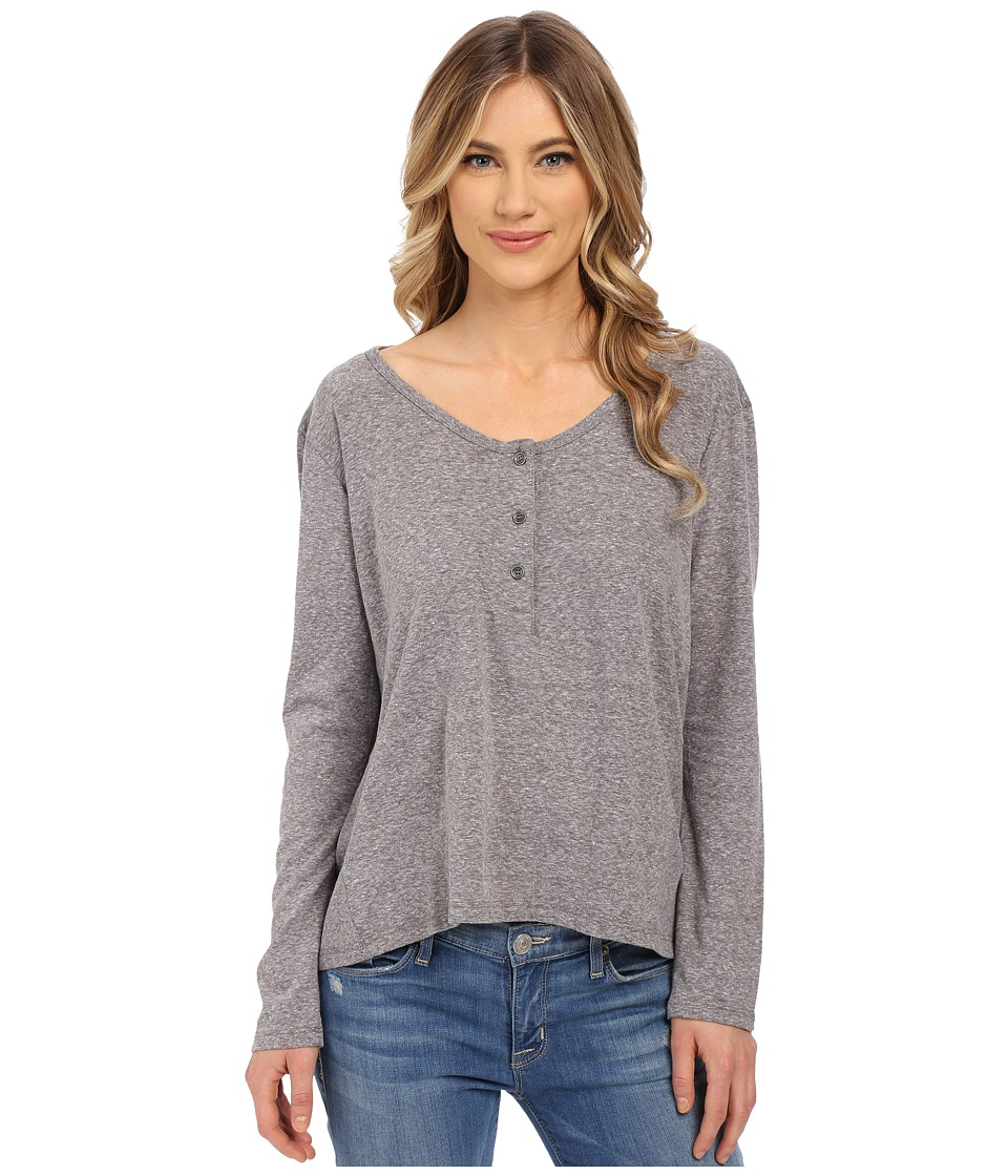 Volcom - Hurry Up Henley Top (Heather Grey) Women's Long Sleeve Pullover