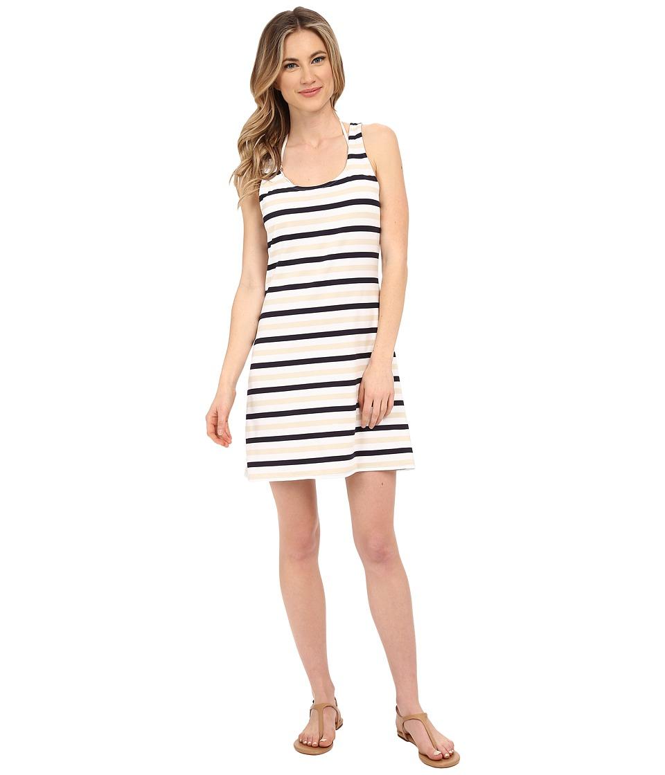 MICHAEL Michael Kors - Nauset Stripe Tank Top Cover-Up (New Navy) Women's Swimwear