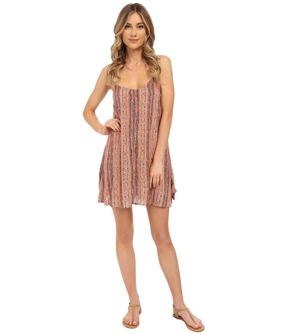Volcom Back Again Dress (Burnt Sienna) Women