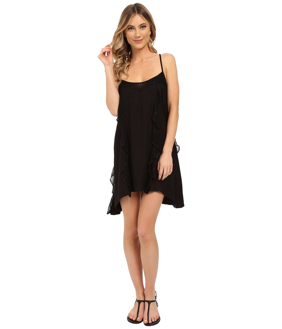 Volcom - Ruff Crowd Dress (Black) Women's Dress