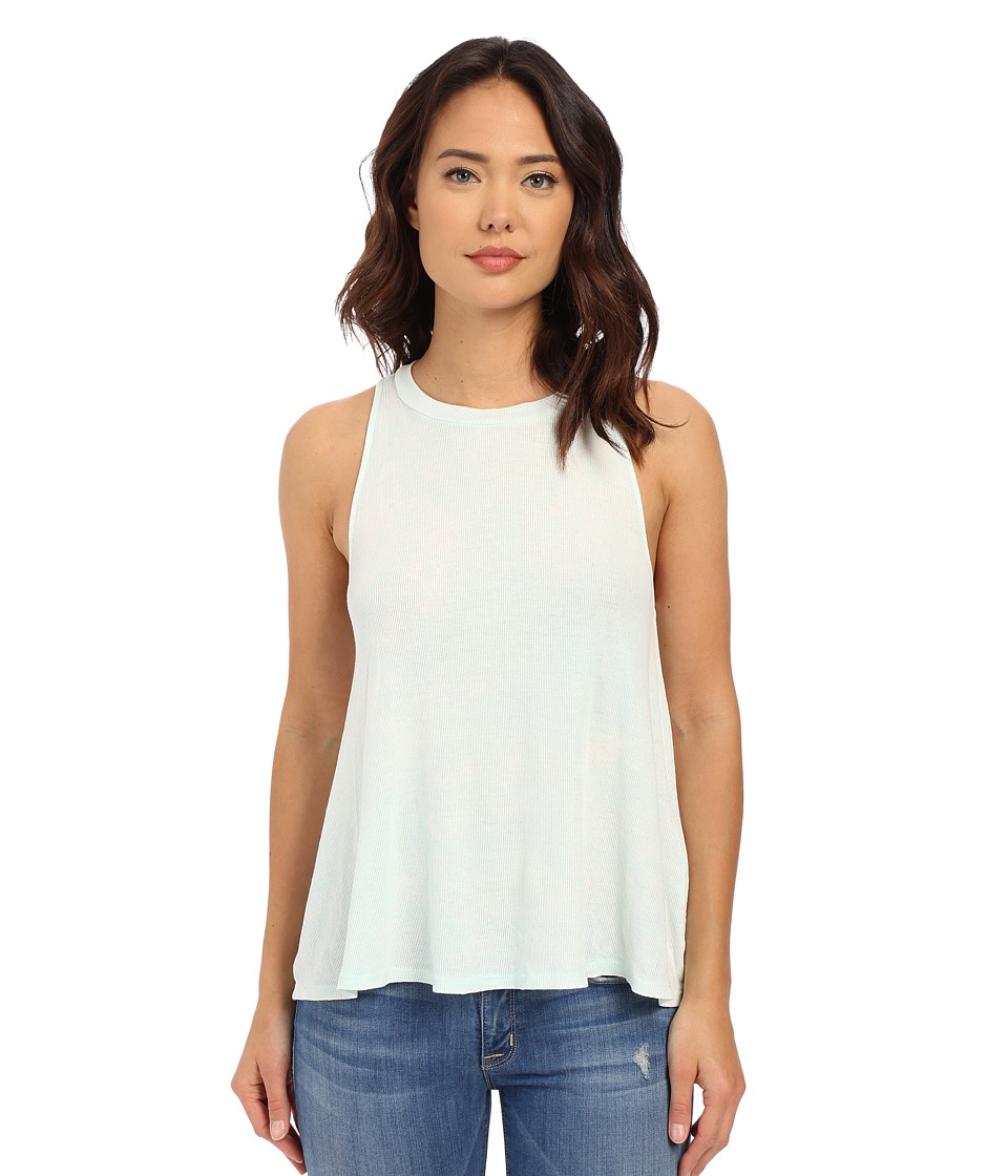 Volcom - Cover Ur Basics Tank Top (Bleached Aqua) Women's Sleeveless