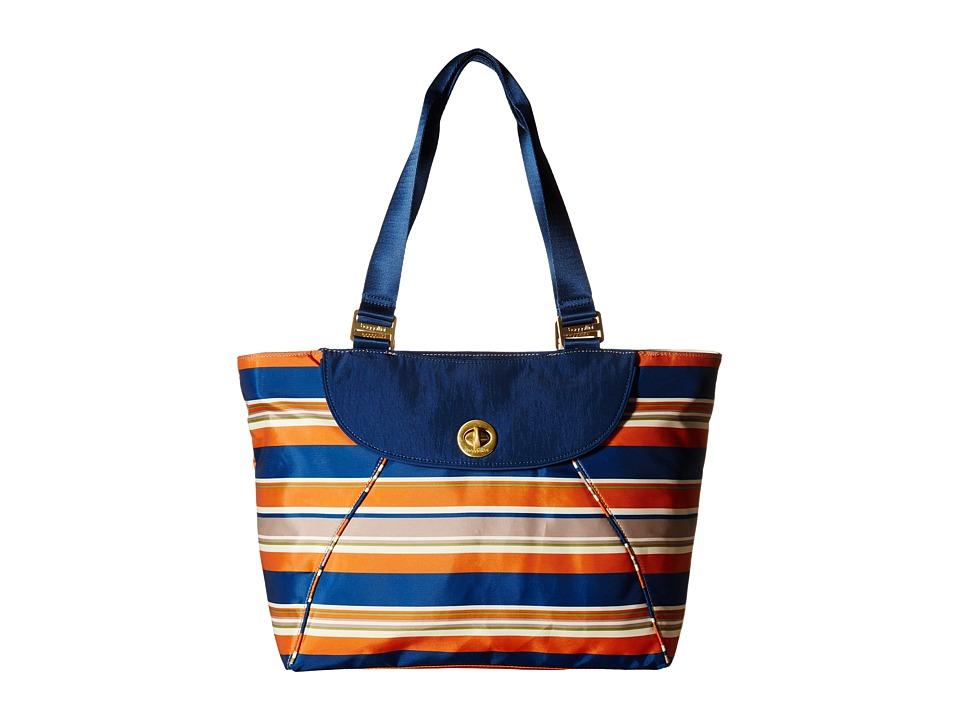 Baggallini - Gold Alberta Tote (Pacific Stripe) Tote Handbags