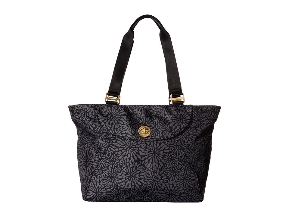Baggallini - Gold Alberta Tote (Pewter Floral) Tote Handbags