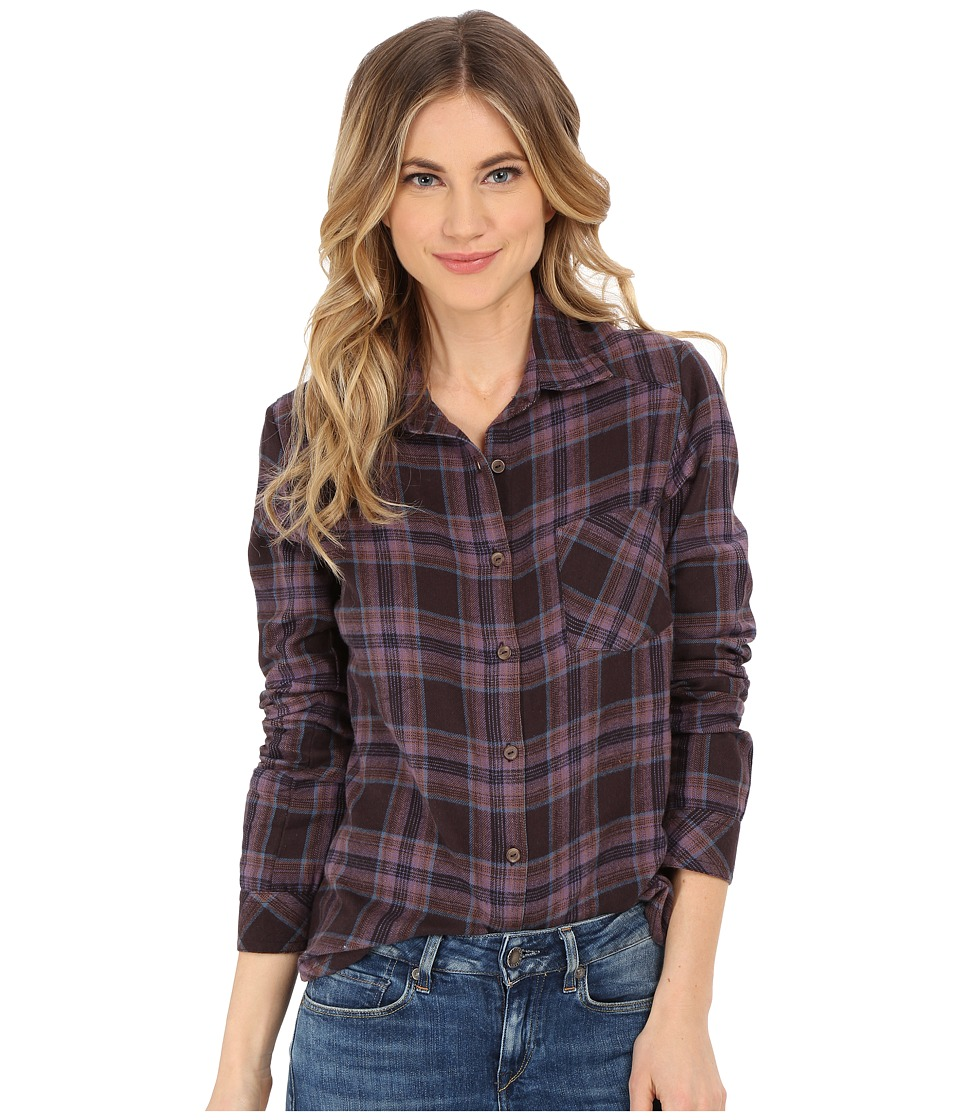 RVCA - Jig 4 Top (Shale) Women's Long Sleeve Button Up