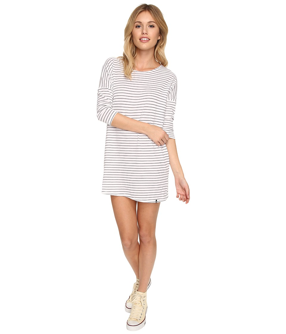 Volcom - Lived in Stripe Dress (Gunmetal Grey) Women's Dress