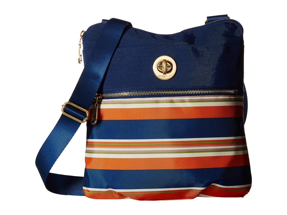 Baggallini - Gold Hanover Crossbody (Pacific Stripe) Cross Body Handbags