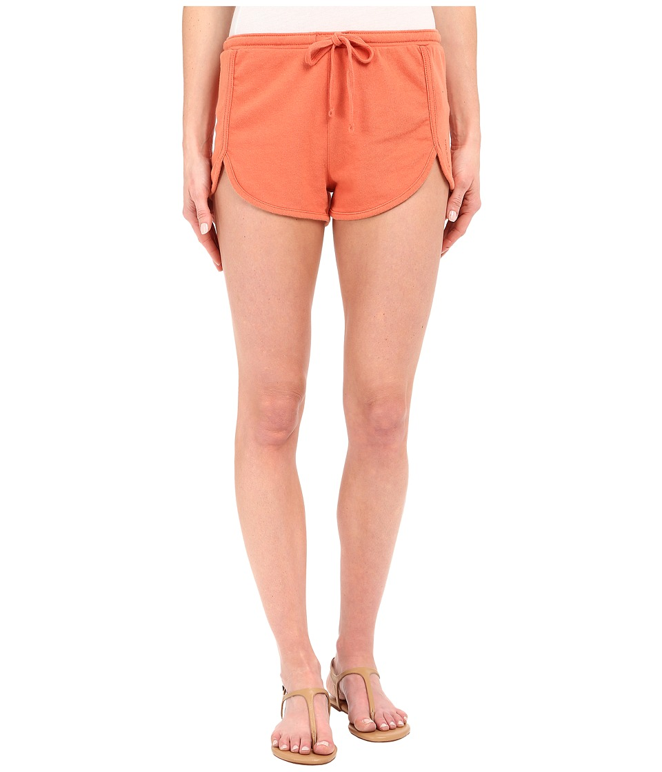 Volcom - Lived In Fleece Shorts (Burnt Sienna) Women's Shorts