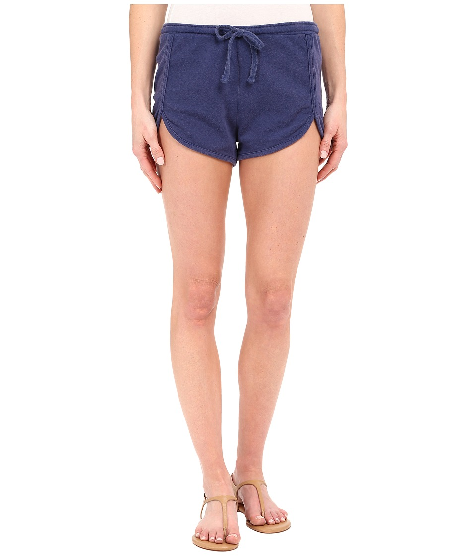 Volcom - Lived In Fleece Shorts (Navy) Women's Shorts