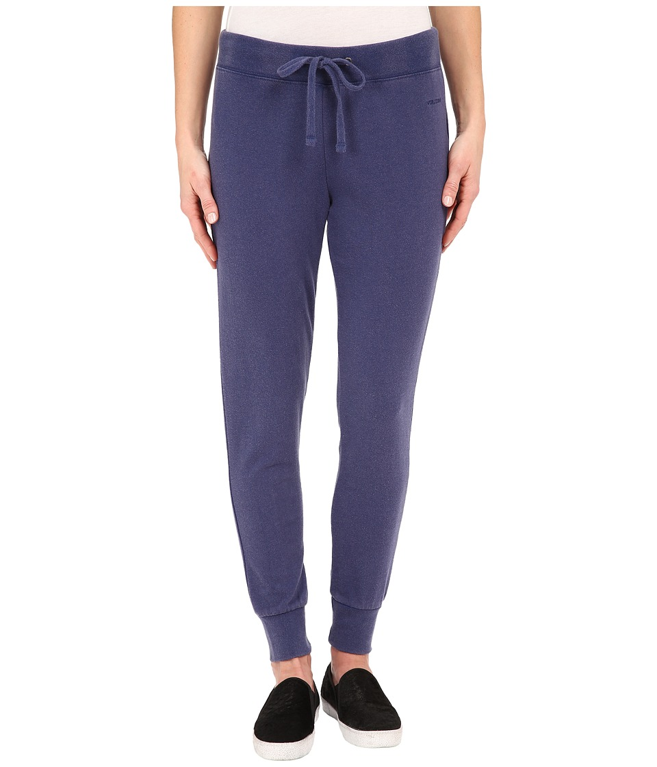 Volcom - Lived in Fleece Pants (Navy) Women's Fleece
