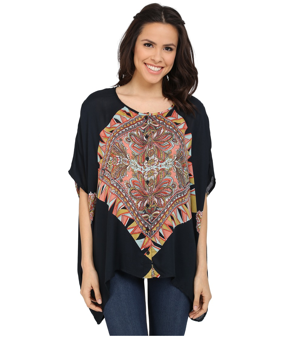 Volcom - Crescent Phase Top (Black) Women's Blouse