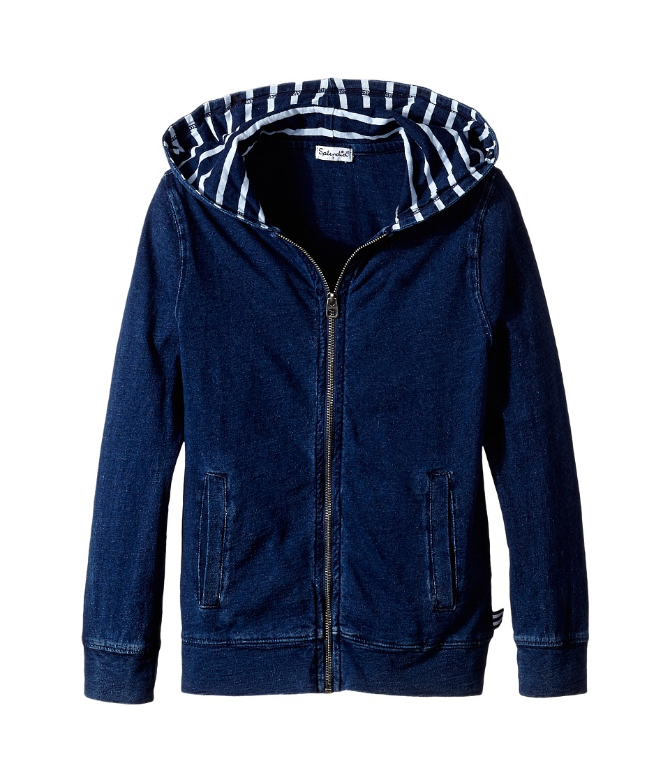 Splendid Littles - Zip-Up Hoodie (Little Kids) (Indigo) Boy's Sweatshirt