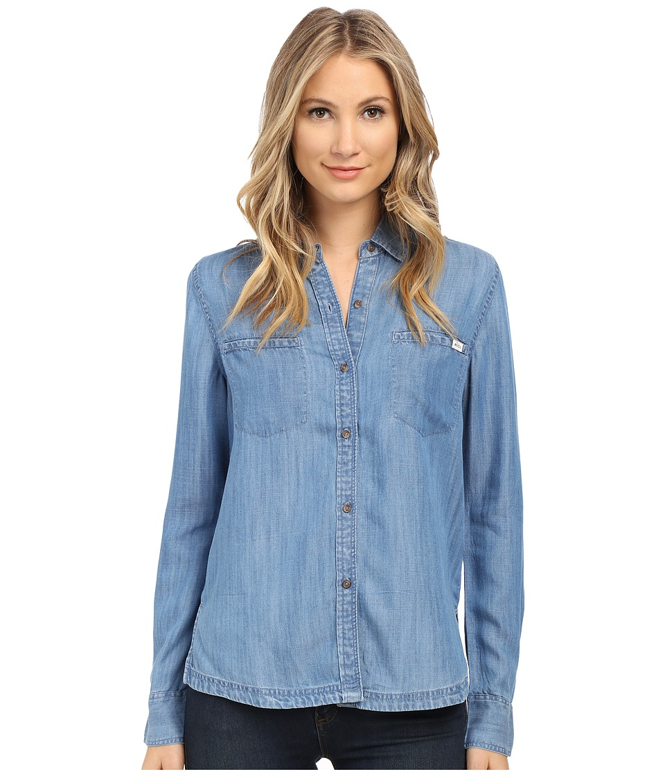 RVCA - Trader 2 Top (Chambray 2) Women's Long Sleeve Button Up