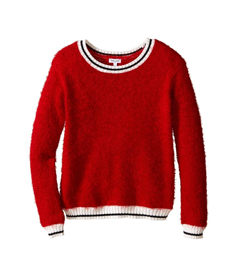 Splendid Littles - Fuzzy Yarn Sweater (Big Kids) (Red) Girl