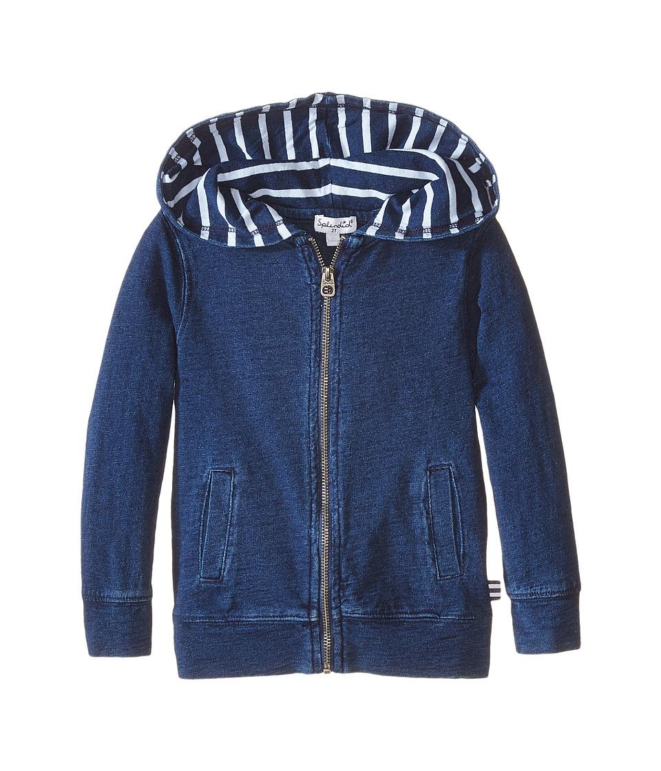 Splendid Littles - Zip-Up Hoodie (Toddler) (Indigo) Boy's Sweatshirt