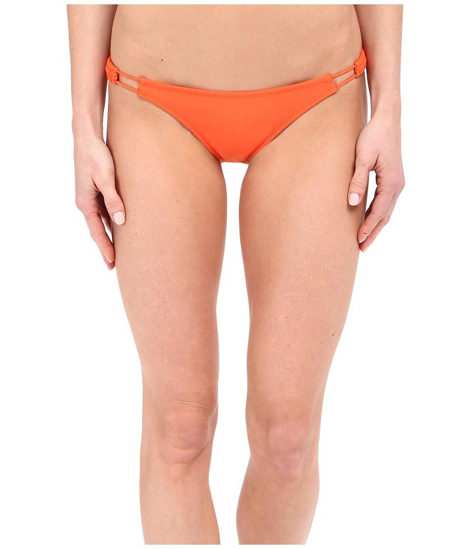 Volcom - Simply Solid Full Bottoms (Fire Red) Women's Swimwear