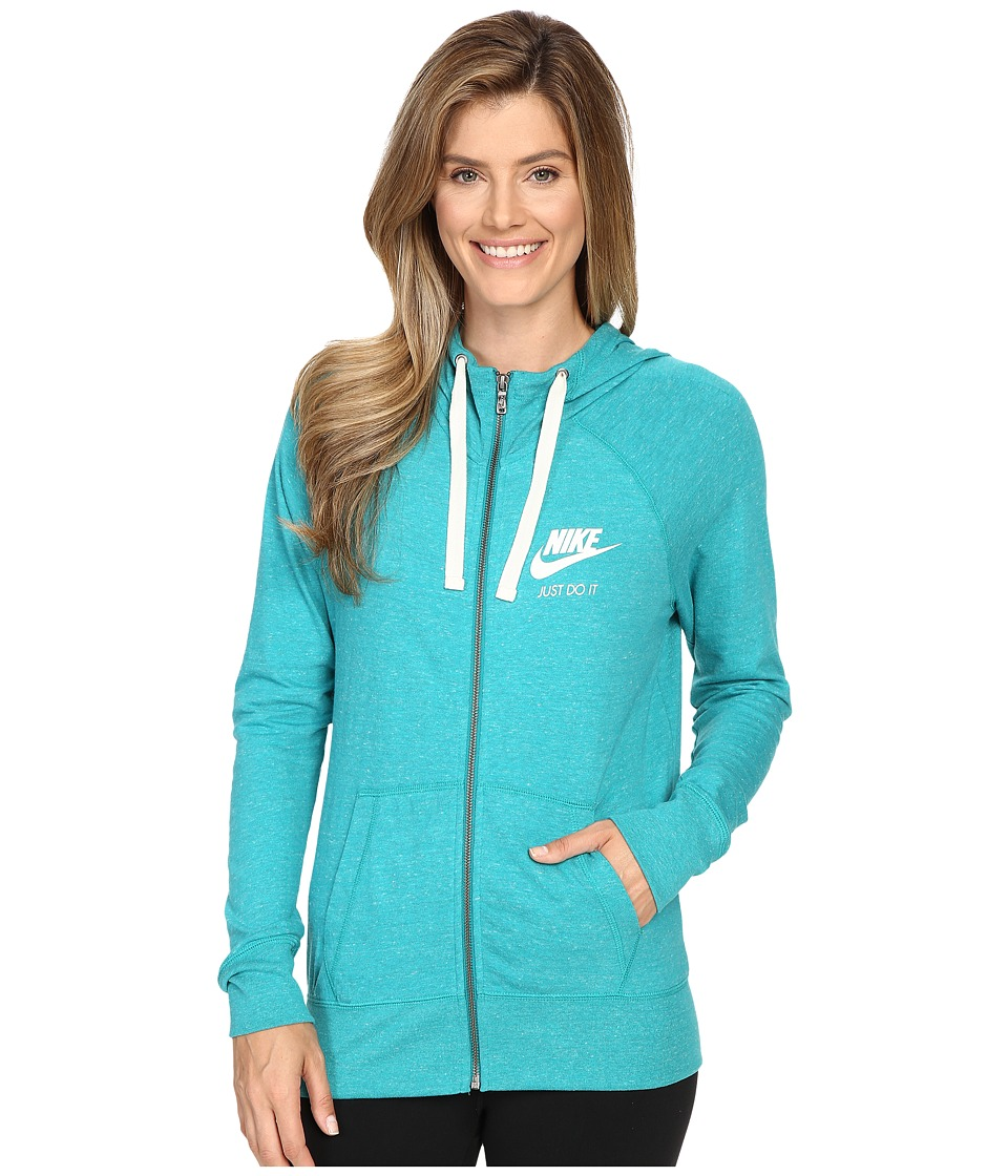 Nike - Gym Vintage Full Zip Hoodie (Rio Teal/Sail) Women's Sweatshirt
