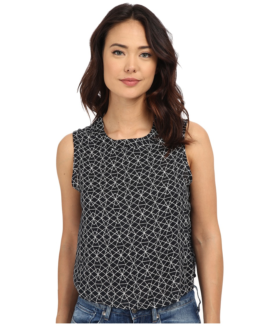 RVCA - Finder Woven Top (Black) Women's Blouse
