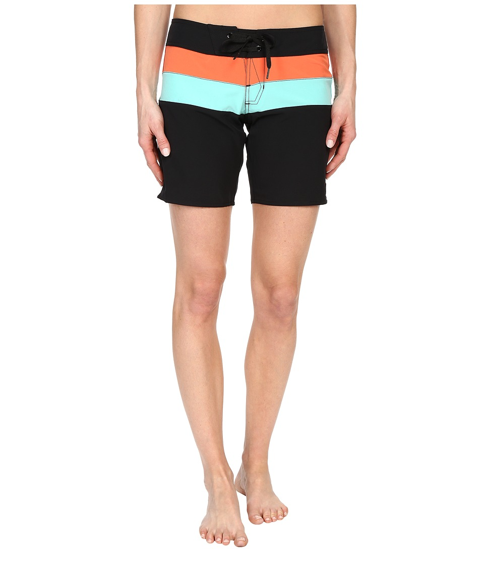 Volcom - Simply Solid 7 Boardshorts (Black) Women's Swimwear
