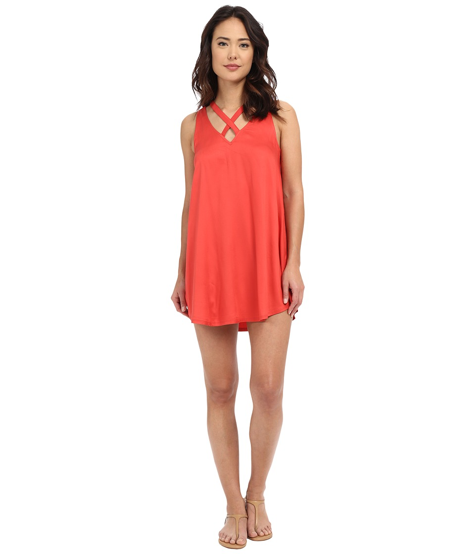 RVCA - Visions Dress (Spiced Coral) Women's Dress