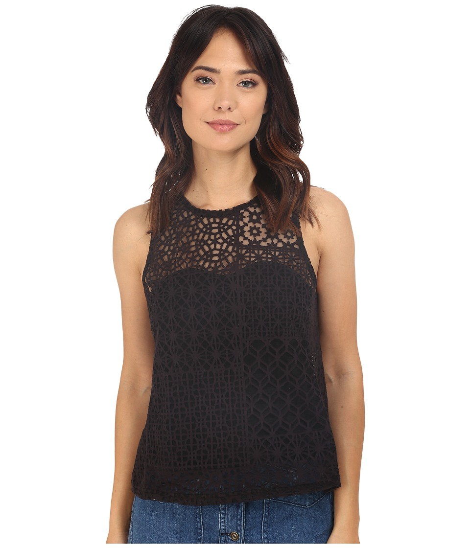 RVCA - Lion Eyes Top (Black) Women's Sleeveless