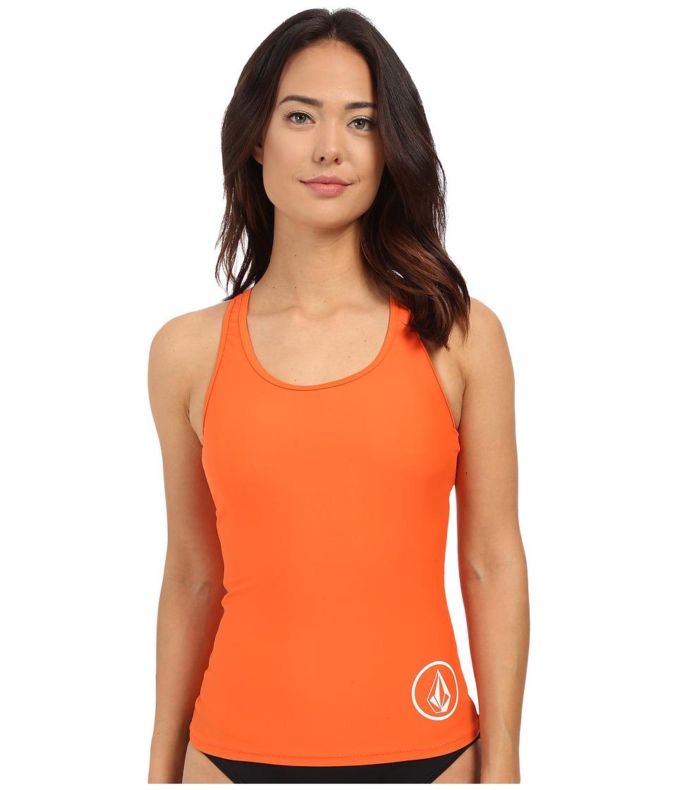 Volcom - Simply Solid Tankini (Fire Red) Women's Swimwear