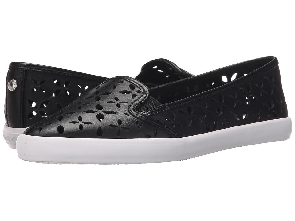 MICHAEL Michael Kors - Olive Slip-On (Black Vachetta Floral Perfed/Suprema Nappa Sport) Women's Shoes