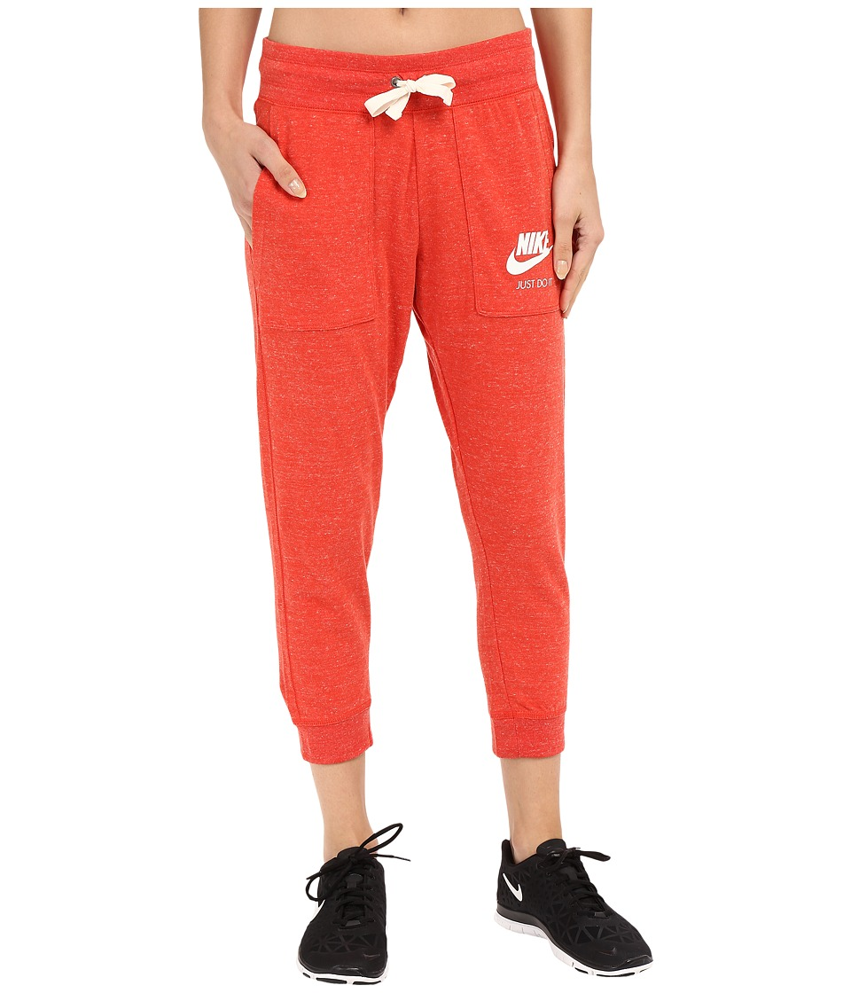 Nike - Gym Vintage Capris (Light Crimson/Sail) Women's Capri