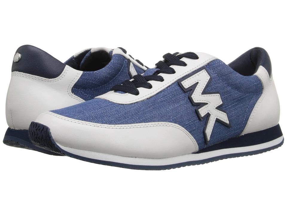 MICHAEL Michael Kors - Stanton Trainer (Light Denim Denim/Vachetta/Suprema Nappa Sport) Women's Lace up casual Shoes