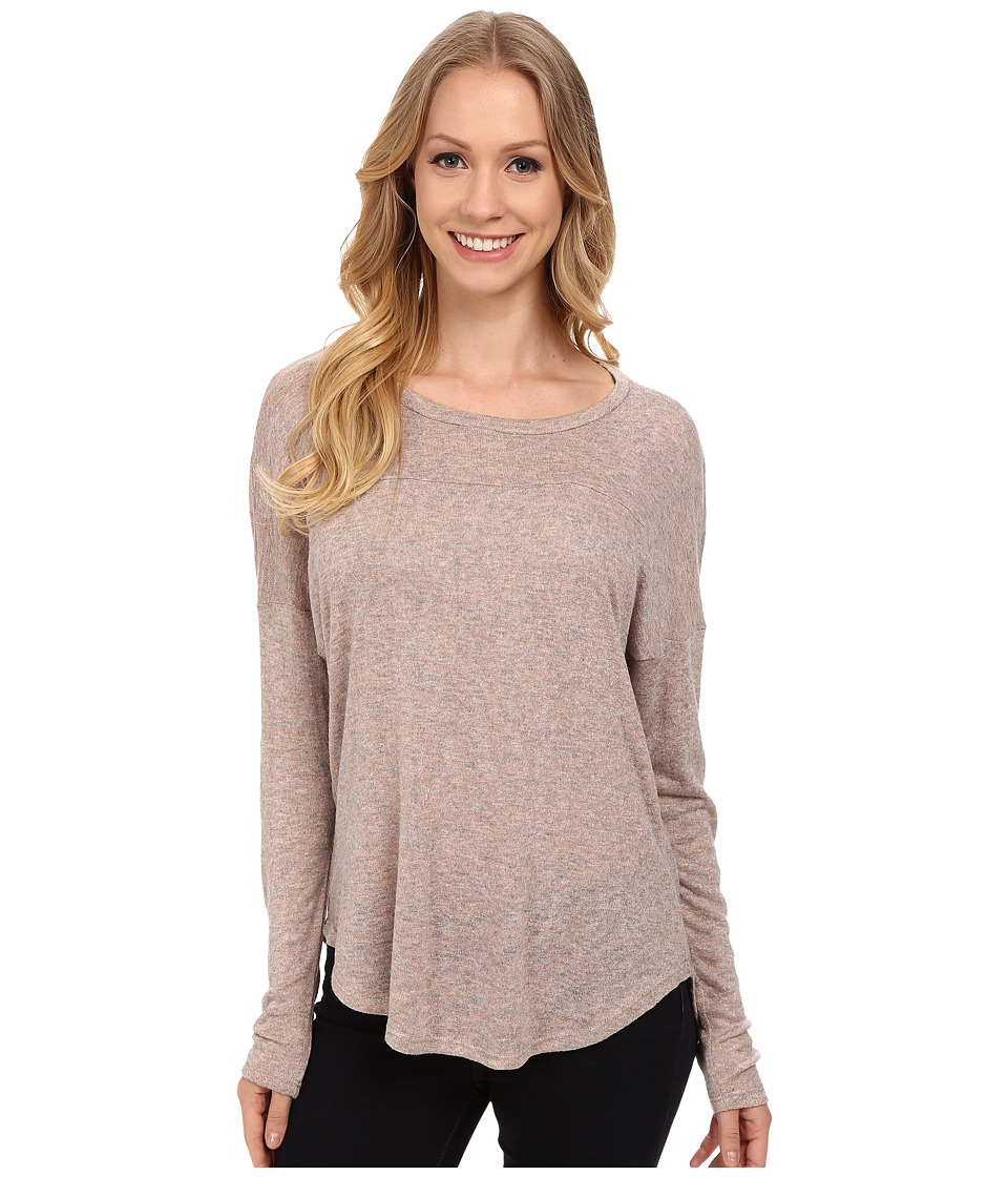 B Collection by Bobeau - High-Low Knit Shirt (Coral Grey) Women's Clothing