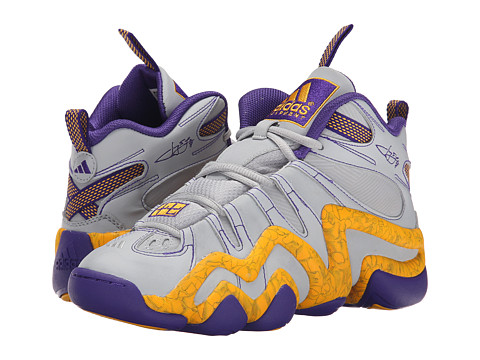 adidas Kids - Crazy 8 J (Big Kid) (Clear Onix/Regal Purple/Gold) Boys Shoes
