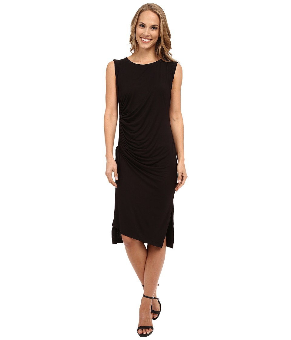 B Collection by Bobeau - Side Gather Knit Dress (Black) Women's Dress