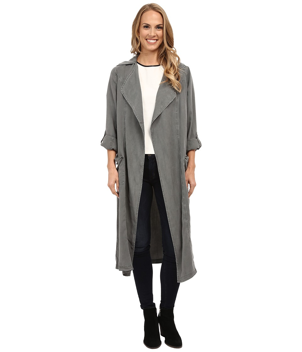 B Collection by Bobeau - Trench Duster Jacket (Olive) Women's Coat