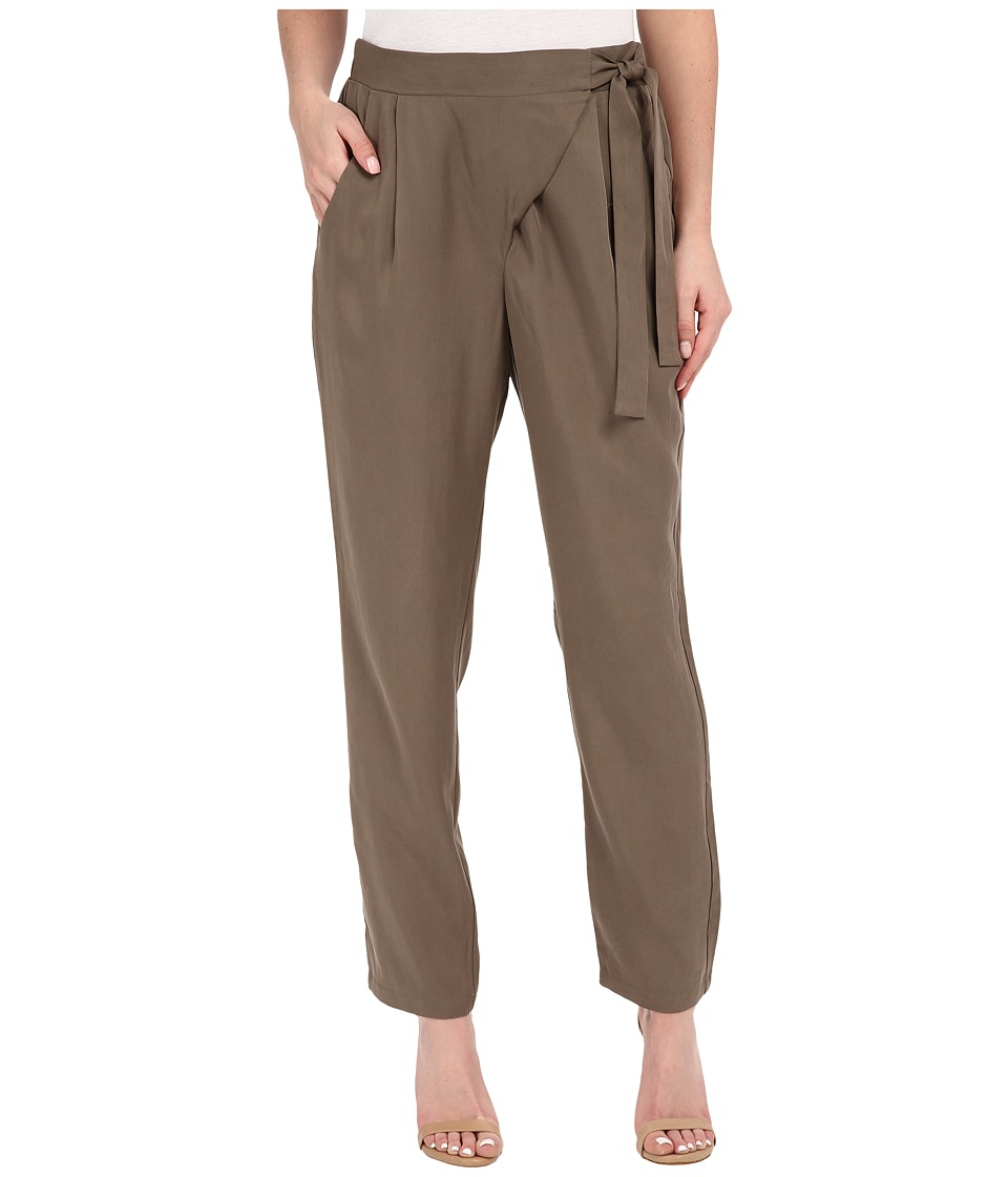 B Collection by Bobeau - Side Tie Trousers (Grapeleaf) Women's Casual Pants
