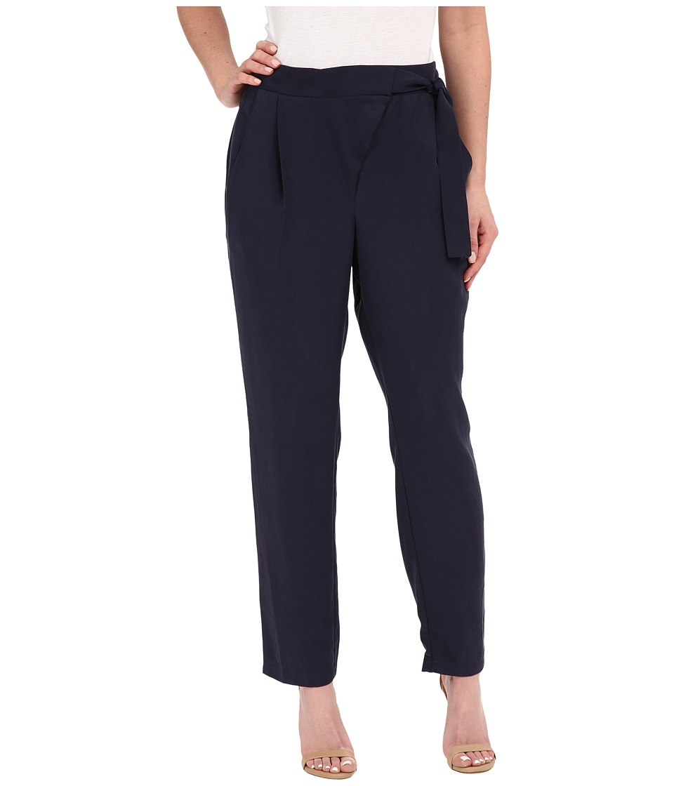B Collection by Bobeau - Side Tie Trousers (Navy) Women's Casual Pants
