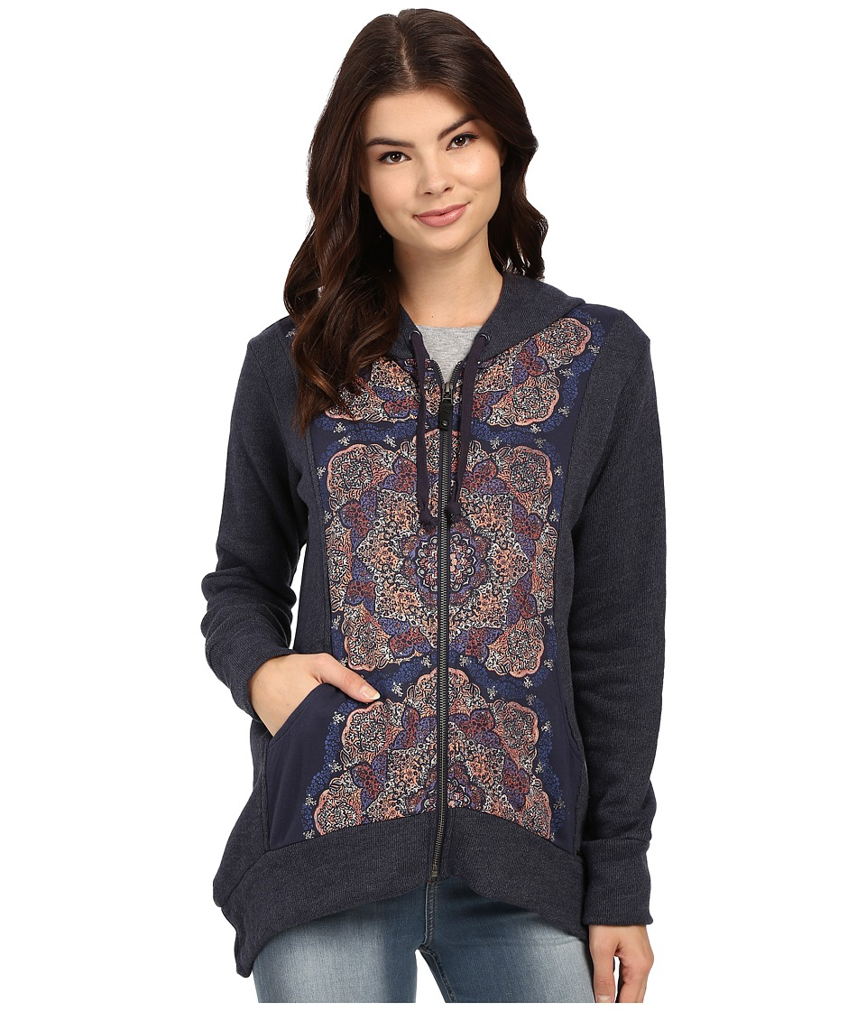 O'Neill - Dash Zip-Up Fleece (Midnight) Women's Sweatshirt