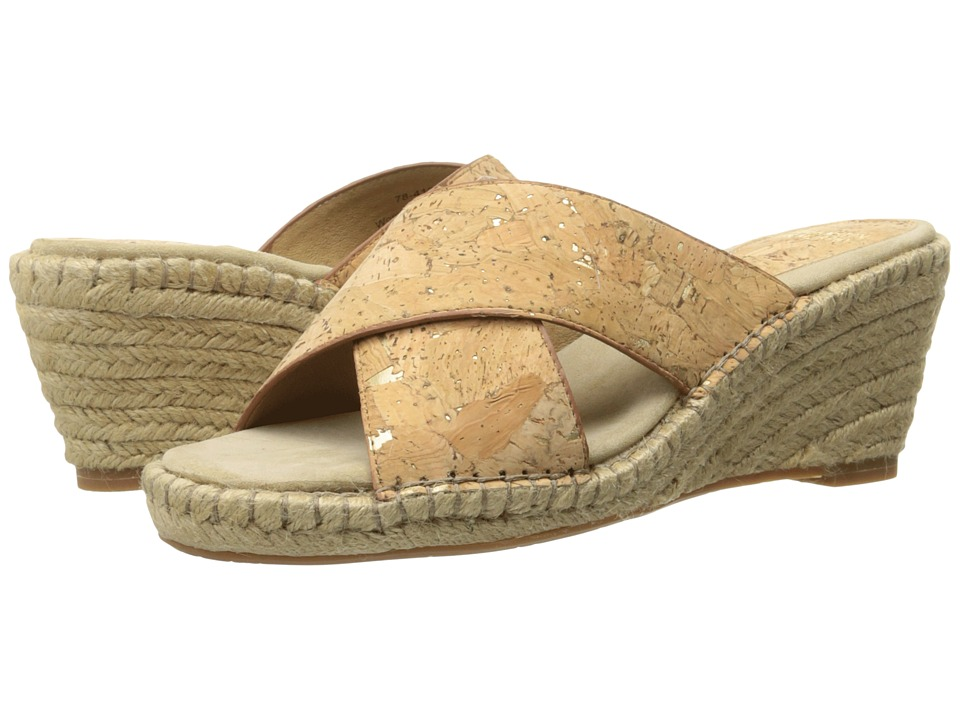 Johnston & Murphy - Arlene Cross Band (Natural Metallic Cork) Women