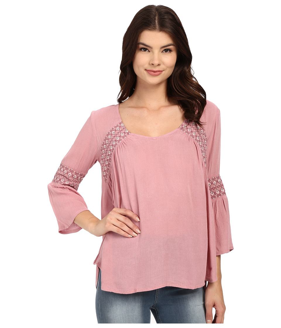 O'Neill - Rocco Woven Sleeved Top (Lilac) Women's Blouse