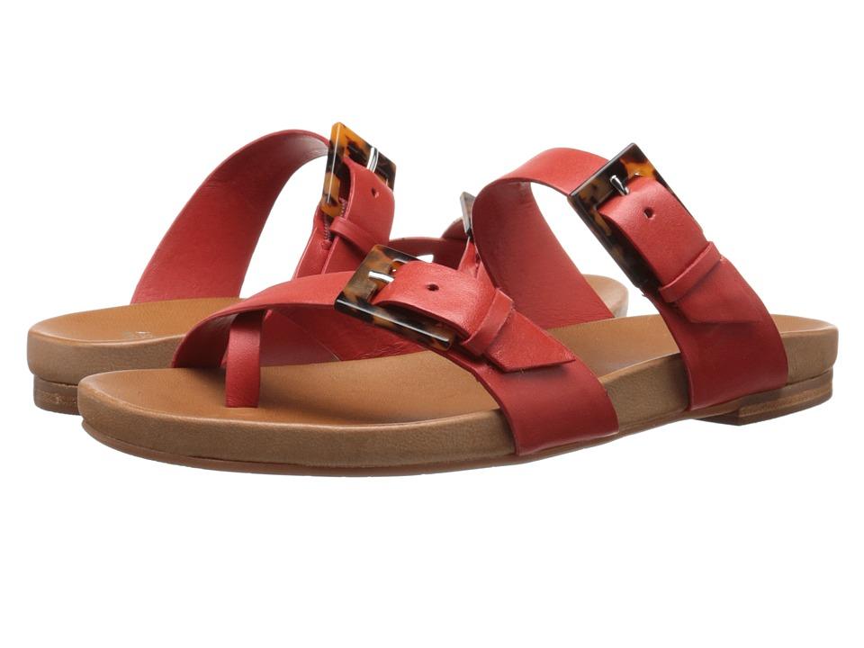 Johnston & Murphy - Jill Buckle Thong (Blood Orange Glove Leather) Women's Sandals
