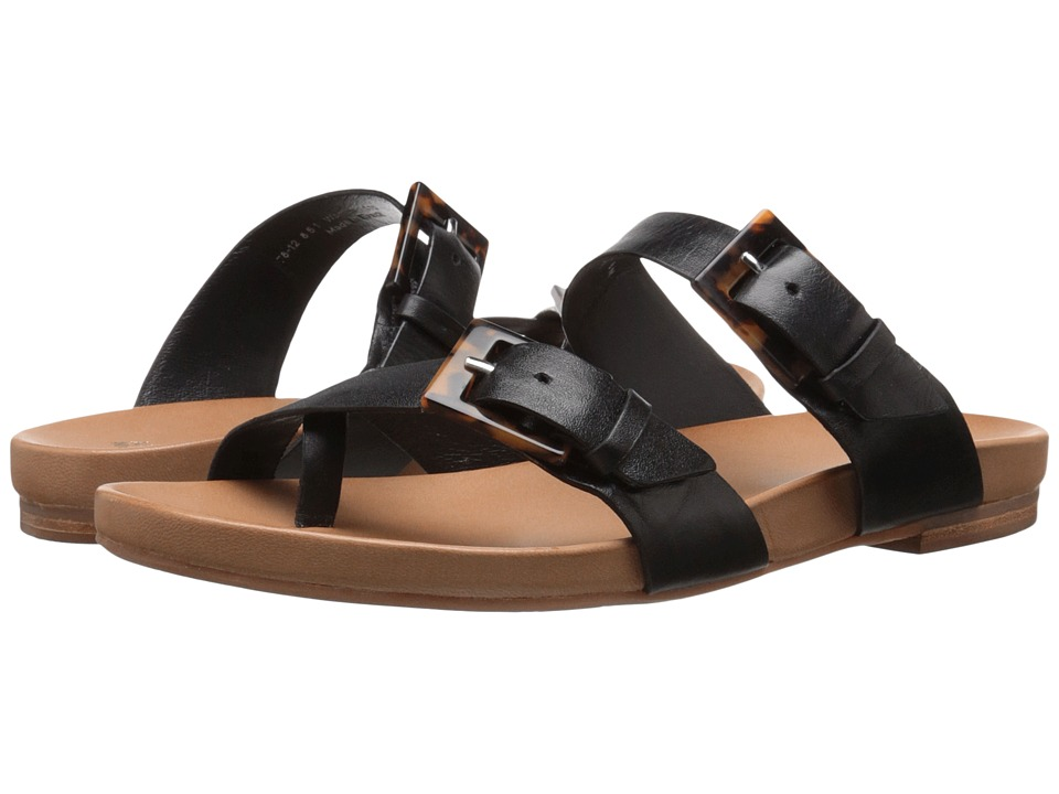Johnston & Murphy - Jill Buckle Thong (Black Glove Leather) Women's Sandals